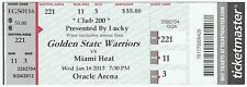 LeBron James 20,000 Career Points 1/16/13 Unused Ticket Miami Heat RARE!
