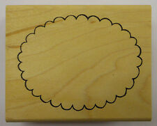Scallop Oval Rubber Stamp by DeNami Design