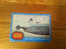 1977 Star Wars Movie  Blue Trading Card #25 Luke Rushes To Save His Loved Ones