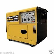 Bundle Portable Silent Heavy Duty 6500 Watt Diesel Generator 110/240V With ATS
