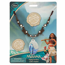 Moana Singing Pendant Costume Necklace Plays How Far I'll Go NEW Disney Store