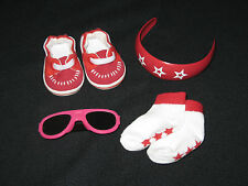 Genuine American Girl Doll Summer Accents Set (Headband, Shoes, Socks & Glasses)