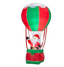 CHRISTMAS SANTA IN HOT AIR BALLOON    INFLATABLE AIRBLOWN  12 FT TALL