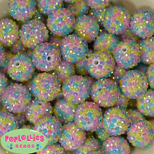 20mm Pastel Confetti Bubblegum Beads sparkly gumball jewelry 20 beads Easter