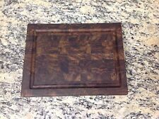 Black Walnut Butcher Block Cutting Board End Grain 9 X 12 With Juice Groove