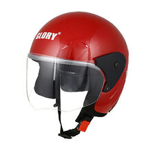 MP Glory Red Track Paint Open Face Motorcycle Scooter Helmet with ISI Mark