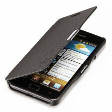 Samsung Galaxy s2 i9100 slim Flip Case Cover pochette housse de protection Cover Noir