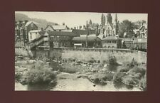 Railway Wales Denbighshire LLANGOLLEN Station from bridge Photograph 1952