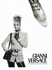 PUBLICITE ADVERTISING 094  1992  GIANNI VERSACE COUTURE chaussures accessoires