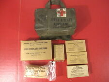 Vietnam US Army Airplane First Aid Kit Complete w/Pouch & Supplies - Dated 1969