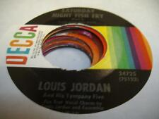 Soul R&B 45 LOUIS JORDAN Saturday Night Fish Fry (Part I) on Decca