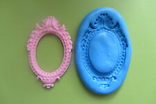 NEW!!! BAROQUE CAMEO FRAME Mould Fimo Cupcakes Chocolate Sugarcraft Cake Food