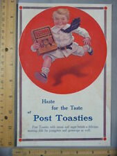 Rare Original VTG 1913 Post Toasties Cereal Kodak Camera Advertising Art Print