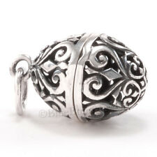 925 FILIGREE EGG Charm Pendant Vinaigrette STERLING SILVER aromatherapy Locket
