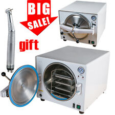 18L 900W Dental Lab Autoclave Steam Sterilizer Equipment Medical Stainless +Gift