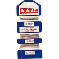 3 cards Lyvia household consumer Fuse Wire  5A 15A 30A fusewire for Fuse Boxes