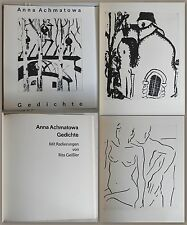 Anna Ajmátova -poemas. Con Grabados de Rita Gala 1989 - No. 1/30 - xz
