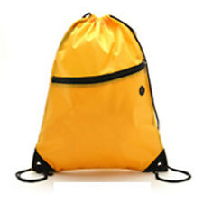 Girl Boy Kid Drawstring Swim Sports Shoe Dance School Bag Backpack PE Gym Yellow