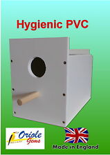 Budgie nest/breeding box removable MDF concave and perch