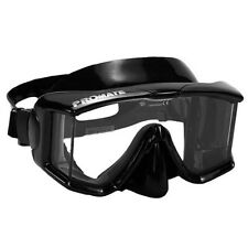 Avanti TL Tri-view Edgeless Dive Mask Scuba Freedive Snorkeling BLACK Side View