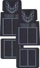 1970 1981 FIREBIRD TRANS AM CUSTOM  MOLDED FLOOR MATS WITH CARPET BLACK