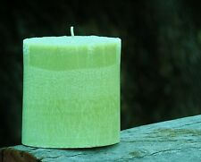 90hr PINEAPPLE SAGE Triple Scented OVAL PILLAR CANDLE Free Shipping / Postage