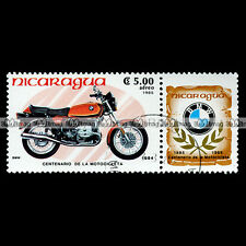 ★ BMW 650 R 65 R65 1984 ★ (NICARAGUA) Timbre Moto / Motorcycle Stamp #58
