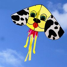 NEW 59 in cute yellow Dog animal kite outdoor fun sports Children's toys novetly