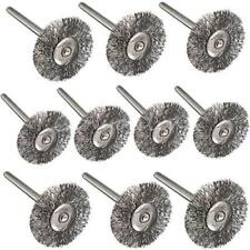 11Pcs Rotary Tools Steel Wire Wheel Brushes Cup Rust Set For Dremel Accessories