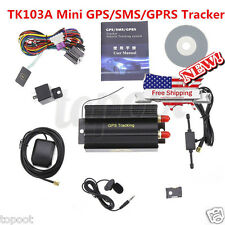 Hot GPRS GSM SMS Vehicle Car GPS Tracker TK103A Tracking Device Alarm System US