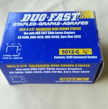"DUO FAST 5012C 3/8"" STAPLES BOX OF 5,000 FITS EWC5018, CS5000, AWC SERIES, CT859"