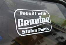 Rebuilt With Genuine Stolen Parts! Sticker Ford Escort VW Corsa Drift JDM Euro