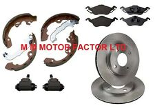 FORD FOCUS MK1 98-04 FRONT BRAKE DISCS PADS REAR BRAKE DRUMS SHOES AND CYLINDERS