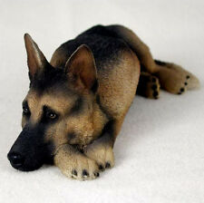 GERMAN SHEPHERD  (BLACK & TAN) MY  DOG  Figurine Statue Gift Resin Hand Painted