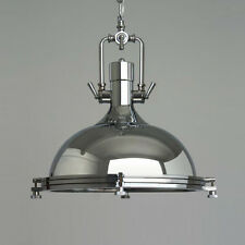 NEW Industrial Metal Pendant Lamp Ceiling Lights Chandelier Fixture - Chrome