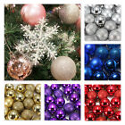 24pcs Christmas Tree Baubles Plain Glitter DIY Decoration Xmas Ornaments Ball