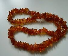 Beautiful long Polished Baltic Honey Amber necklace 66 grams