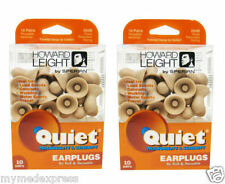 2 PACK Howard Leight Quiet Earplugs 10 pair (033552016830)