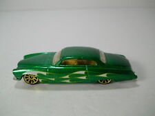 Hotwheels Fish'd & Chip'd Green with Flames Low Rider 1/64 Scale  JC22