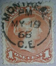 Large Queen 1868 22 SON CDS Nice Stamp