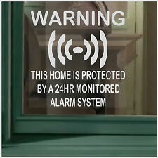 6 X Home security-24hr Sistema De Alarma de advertencia de seguridad signs-window Pegatinas Set