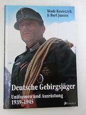 """Buch """"Deutsche Gebirgsjäger"""" Uniformen & Ausrüstung 1939-45 WK2 WH Wehrmacht WXX"""