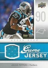2009 Upper Deck Julius Peppers Jersey Panthers Green Bay Packers North Carolina