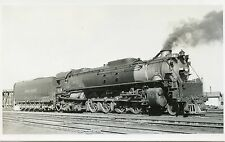 6A962 RPPC 1940 UNION PACIFIC RAILROAD TRAIN ENGINE #828 DENVER CO