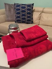 Fair Isle Holiday 3 Piece Towel Set by Betsey Johnson Red -Free Shipping