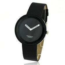 Fashion New Black Unisex Women Men Luxury Sport Quartz Wrist Watch Bangle times