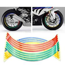 Car Bike Motorcycle Wheel Tire 16 Strips Reflective Sticker Tape Decal Colorful