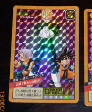 DRAGON BALL Z DBZ SUPER BATTLE POWER LEVEL 9 CARD DOUBLE PRISM CARTE 353 JAPAN *