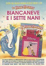 X1574 Biancaneve e i sette nani - Le Fiabe Disney - Pubblicità del 1991 - Advert
