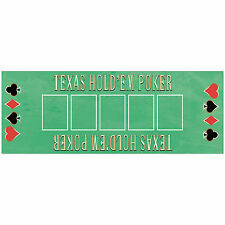 56cm Casino Texas Hold'em Poker Party PVC Plastic Game Mat Decoration